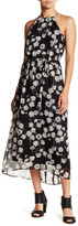 Donna Morgan Chiffon Halter Midi Dress