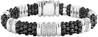 Lagos Black Caviar Diamond Station Bracelet