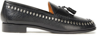 Sandro Tasseled Studded Leather Loafers