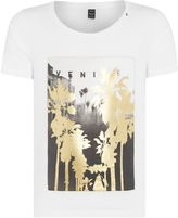 Replay Cotton T-shirt With Gold Print