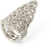 BCBGMAXAZRIA Pave Filigree Pointed Ring