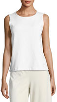 Eileen Fisher Organic Cotton-Blend Stretch-Jersey Shell, Petite