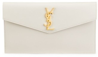 Saint Laurent Medium Uptown Leather Clutch