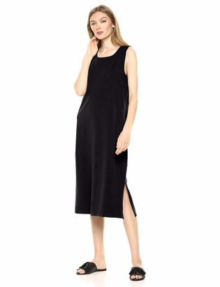 Daily Ritual Lived-in Cotton Muscle-sleeve Midi Dress Casual