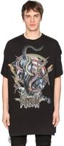Balmain Panther Printed Cotton Jersey T-Shirt