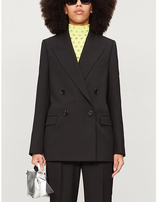 Acne Studios Double-breasted oversized woven blazer