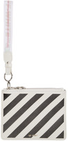 Off-White White and Black Diag Pouch