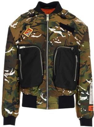 Heron Preston X Ministry Of Defence Camouflage Bomber Jacket