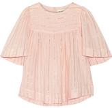 Etoile Isabel Marant Sara Metallic Cotton-blend Gauze Top - Pastel pink