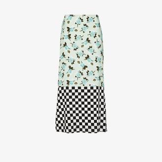 Erdem Vaughn dual-pattern skirt