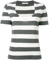 Max Mara striped knit T-shirt - women - Silk/Linen/Flax - S