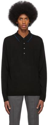 Paul Smith Black Merino Long Sleeve Polo