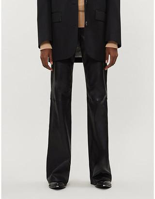 Rag & Bone Jane slim-fit flared leather trousers