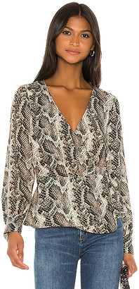 Cupcakes And Cashmere Jasper Wrap Blouse