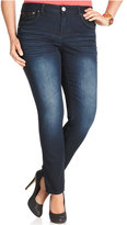 Hydraulic Plus Size Bailey Super Skinny Jeans, Indigo Wash
