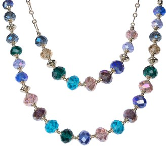 Isaac Mizrahi Live! Set of 2 Nested Faceted Bead Necklaces