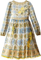 Dolce & Gabbana Medallion Print Dress (Big Kids)