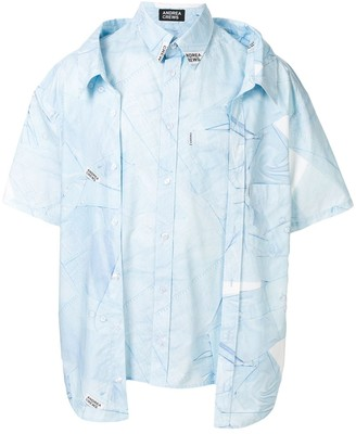 Andrea Crews shirt-print oversized layered shirt