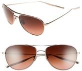 Salt Women's 'Pratt' 57Mm Aviator Sunglasses - Honey Gold