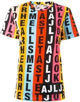 Au Jour Le Jour letters print shortsleeved sweatshirt