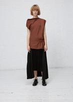 Jil Sander medium rust date open shoulder top