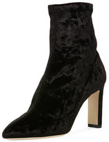 Jimmy Choo Louella Stretch-Velvet Bootie