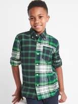 Gap Mix-plaid oxford button-down shirt