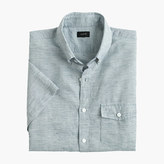 J.Crew Short-sleeve shirt in end-on-end cotton-Irish linen