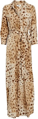 L'Agence Cameron Leopard Shirt Dress