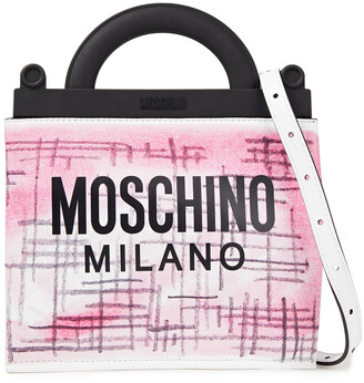 Moschino Pvc-trimmed Printed Leather Tote