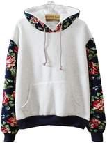Followme2shop Cute Sweaters Cute Hoodies Sweater Pullover Warm Fleece Lined Flowers Sleeve