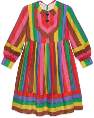 Gucci Children's print dress with embroidery