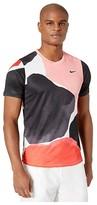 Nike NikeCourt Challenger Top Short Sleeve MB NT (Gridiron/White/Off Noir) Men's Clothing