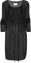 Maison Margiela Oversized ruffled ribbed modal and cashmere-blend top