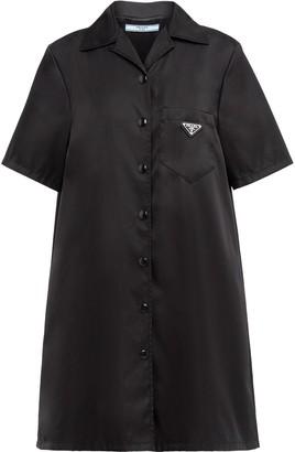 Prada Logo-Patch Shirt Dress