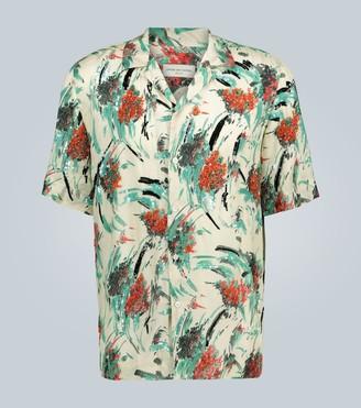 Dries Van Noten Camp-collar sequinned shirt