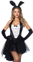 Leg Avenue Black & White Tux & Tails 3-Piece Costume Set