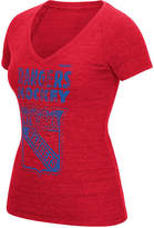 Reebok Women's New York Rangers Block Rhinestone T-Shirt