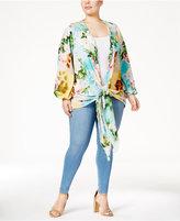 Melissa McCarthy Trendy Plus Size Kimono Wrap