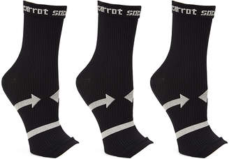 Xtf By Extreme Fit XTF by Extreme Fit Women's Compression Socks - Black Open-Toe Three-Pair 20-30 mmHg Compression Socks Set