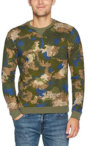 Benetton Men's Long Sleeve Sweater Sweatshirt,Large