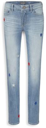 DL1961 Girl's Chloe Star-Print Skinny Jeans