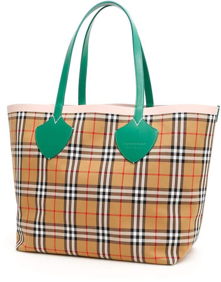 732bf08df Burberry Green Tote Bags - ShopStyle