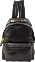 Moschino Small Backpack Grained Lettering