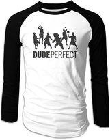Sofia YouTube DP Dude Perfect Trick Shots Long Sleeve Baseball Shirts For Men S