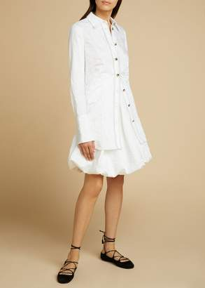 KHAITE The Tanya Skirt in White