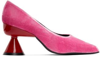 Paula Canovas Del Vas SSENSE Exclusive Pink Diablo Pumps