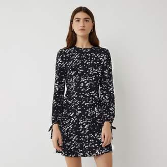 Warehouse DAISY PRINT FLIPPY DRESS