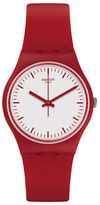 Swatch Analog Time to Swatch Collection Silicone Strap Watch