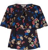 Yumi Two Tier Butterfly And Flower Top